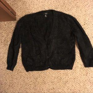 Fluffy black Forever21 cardigan sweater ultra soft